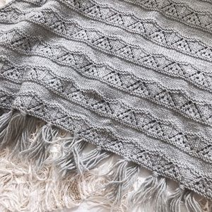 Grey Knit Cape Scarf with Tassels 💕💕